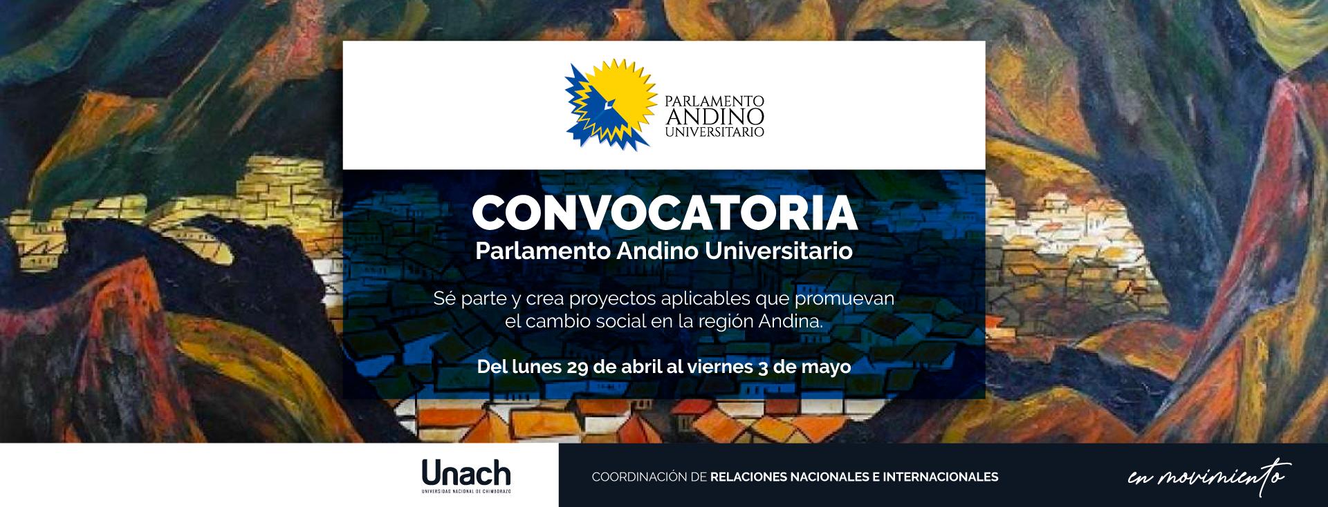 SÉ PARTE Y CREA PROYECTOS APLICABLES QUE PROMUEVAN EL CAMBIO SOCIAL EN LA REGIÓN ANDINA