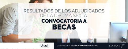RESULTADOS XVI CONVOCATORIA A BECAS PERIODO ABRIL- AGOSTO 2019