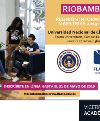 REUNIÓN INFORMATIVA SOBRE OFERTA DE MAESTRÍAS EN LA FLACSO PERÍODO 2019 - 2021