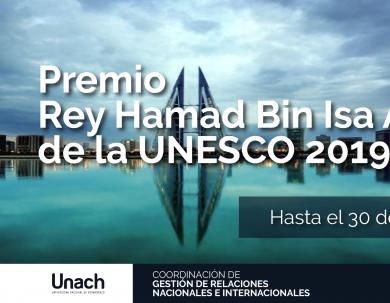 Premio Rey Hamad Bin Isa Al-Khalifa de la UNESCO 2019