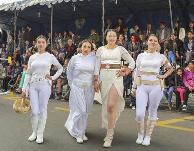 La cultura del cine fue parte del Desfile Institucional de la Unach