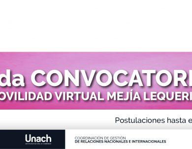 2da CONVOCATORIA PLAN DE MOVILIDAD VIRTUAL MEJÍA LEQUERICA