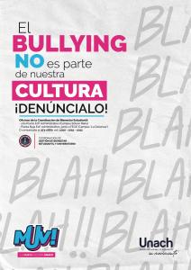 EL BULLING no es parte de nuestra cultura ! DENÚNCIALO ¡