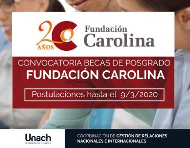 CONVOCATORIA BECAS DE POSGRADO  FUNDACIÓN CAROLINA