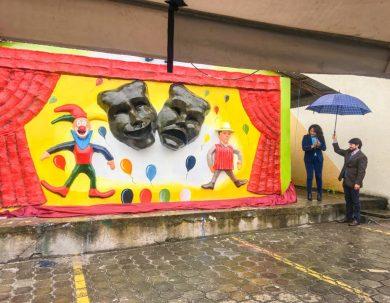 """Esculto Mural """"Teatrino"""" es la nueva expresión artística de la Unach"""