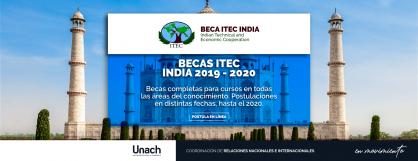 BECAS DEL ITEC, EN LA INDIA 2019 – 2020
