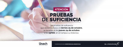 ATENCIÓN PRUEBAS DE SUFICIENCIA