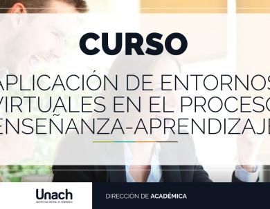 """CURSO """"APLICACIÓN DE ENTORNOS VIRTUALES EN EL PROCESO ENSEÑANZA-APRENDIZAJE"""""""