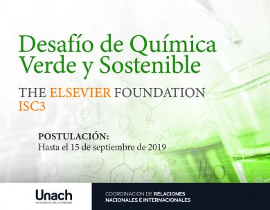 DESAFÍO DE QUÍMICA VERDE Y SOSTENIBLE ELSEVIER FOUNDATION-ISC3