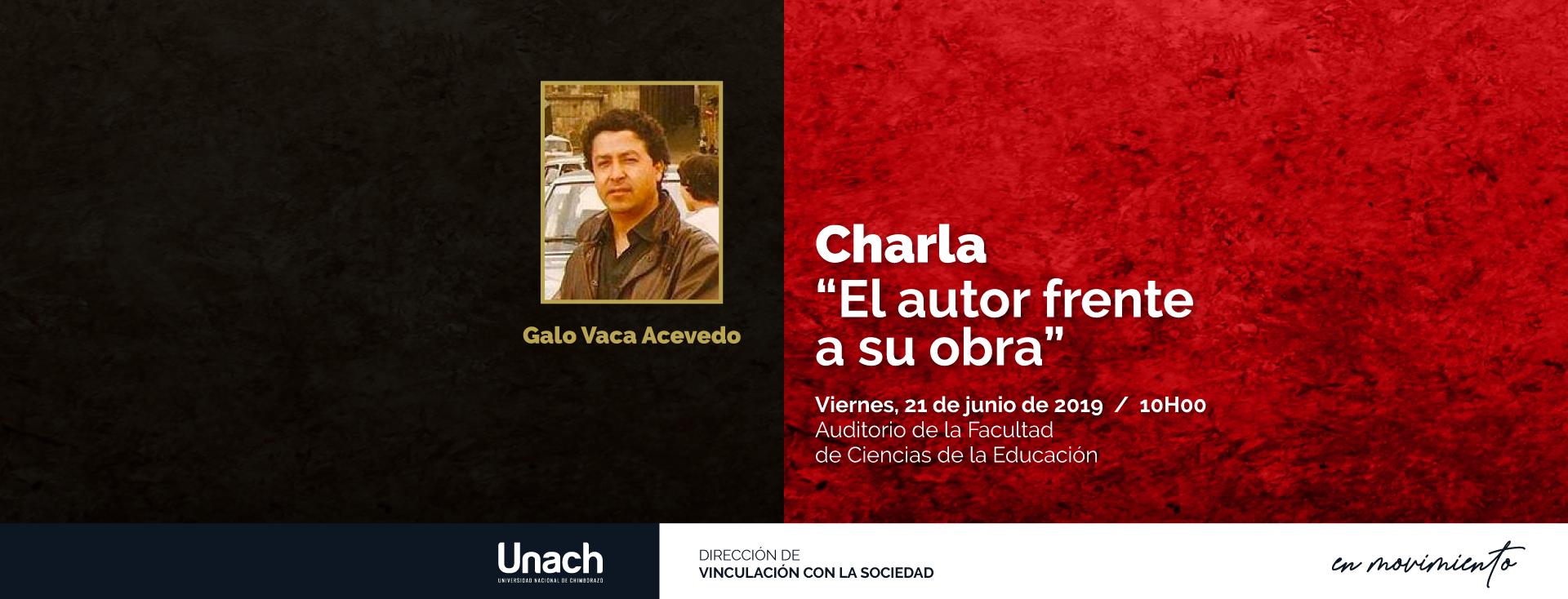 CHARLA :  EL AUTOR FRENTE A SU OBRA