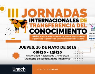 III JORNADAS INTERNACIONALES DE TRANSFERENCIA DE CONOCIMIENTO