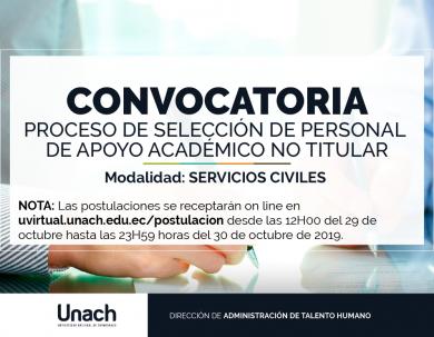 PROCESO DE SELECCIÓN DE PERSONAL DE APOYO ACADÉMICO NO TITULAR
