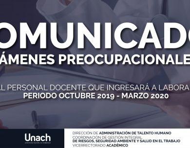 COMUNICADO EXÁMENES PREOCUPACIONALES
