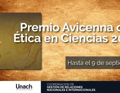 PREMIO AVICENNA DE ÉTICA EN CIENCIAS 2019
